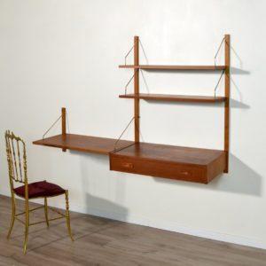 Système d'étagères : bureau modulable scandinave 1960 vintage 38