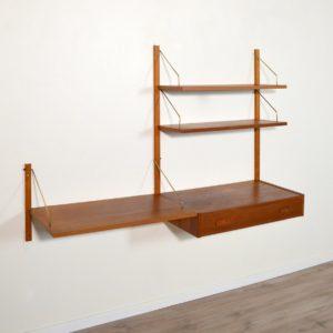 Système d'étagères : bureau modulable scandinave 1960 vintage 8