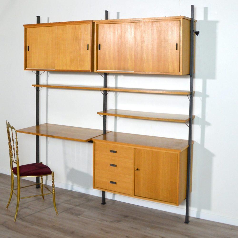 Bibliothèque / Bureau / Console modulable Suédoise Olof Pira 1960s