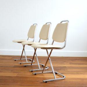 Chaises vintage 1950 design 11