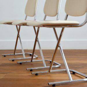 Chaises vintage 1950 design 13