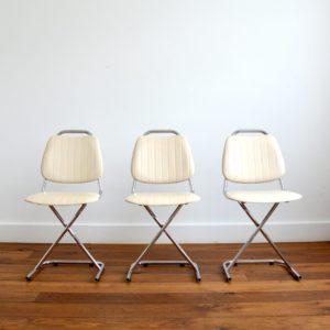 Chaises vintage 1950 design 2