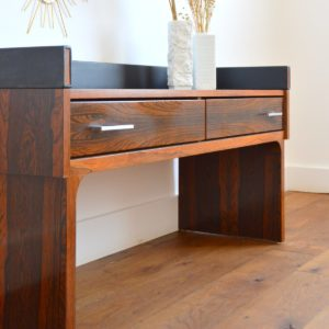 Enfilade – commode – console placage palissandre 1970 vintage 11