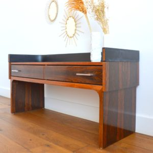 Enfilade – commode – console placage palissandre 1970 vintage 18