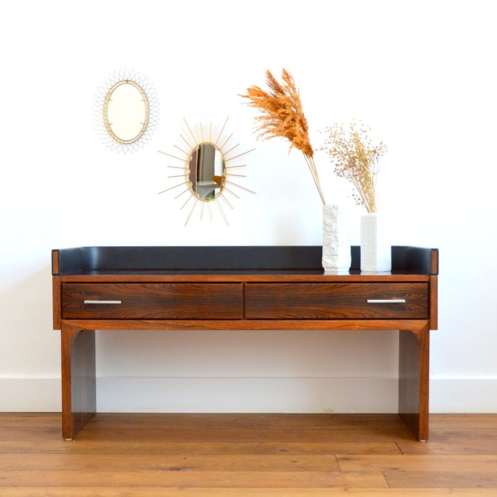 Enfilade / Console placage palissandre vintage 1970s