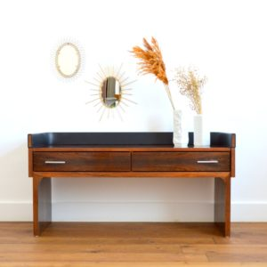 Enfilade – commode – console placage palissandre 1970 vintage 22
