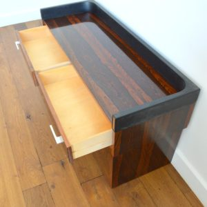 Enfilade – commode – console placage palissandre 1970 vintage 46