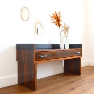 Enfilade – commode – console placage palissandre 1970 vintage 9