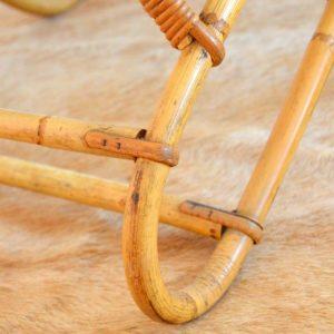 Fauteuil en Rotin et Bambou par Dirk van Sliedregt pour Rohe Noordwolde, 1950 vintage ap