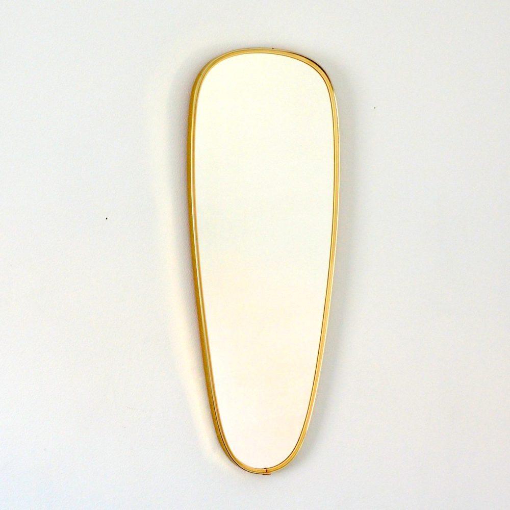 Grand miroir forme libre année 50 / 60 vintage