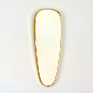 Miroir forme libre laiton 1960 vintage 16