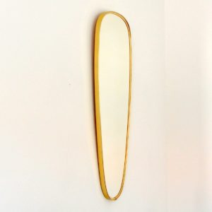 Miroir forme libre laiton 1960 vintage 2