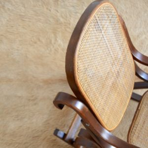 Rocking Chair Enfant Thonet bois et cannage vintage 14