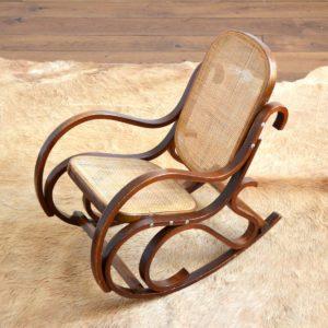 Rocking Chair Enfant Thonet bois et cannage vintage 15