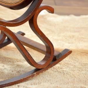 Rocking Chair Enfant Thonet bois et cannage vintage 20