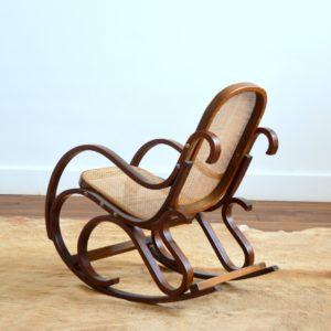Rocking Chair Enfant Thonet bois et cannage vintage 23