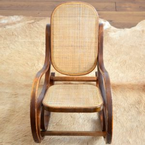 Rocking Chair Enfant Thonet bois et cannage vintage 24