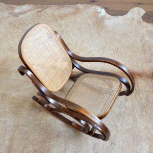 Rocking Chair Enfant Thonet bois et cannage vintage 6