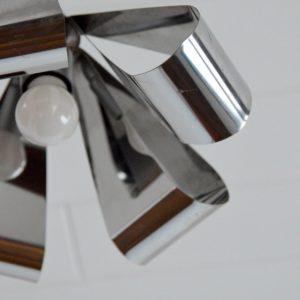 Suspension chromé 1970 vintage 19