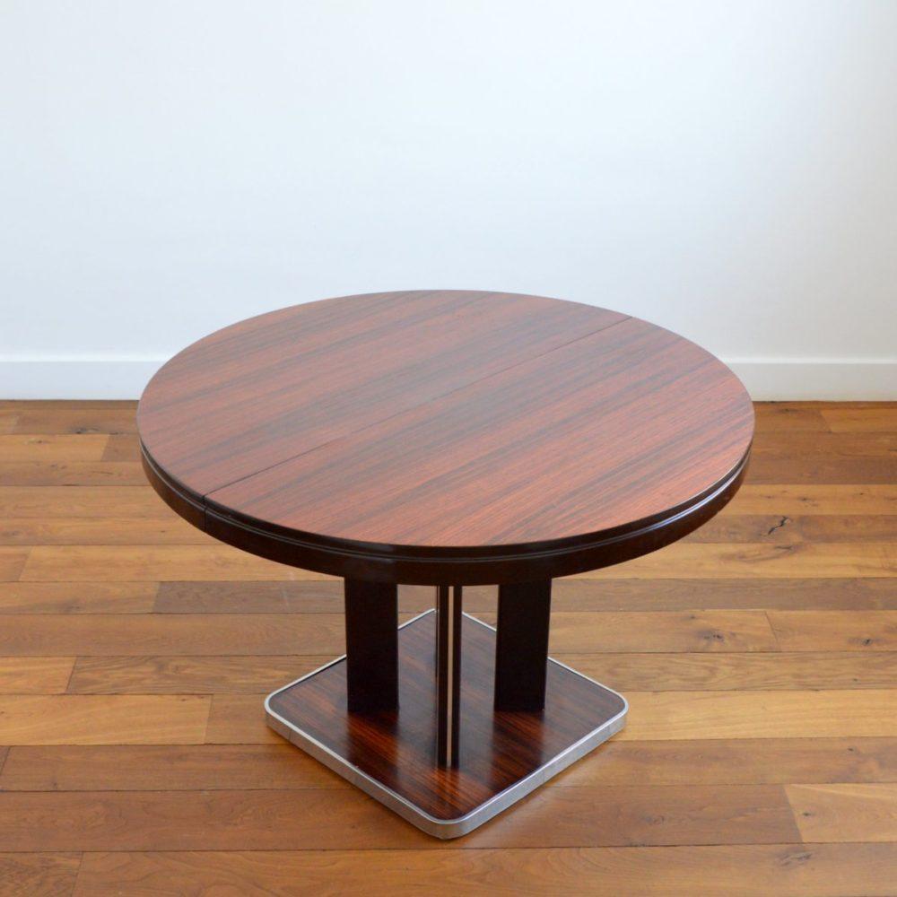Table à manger ronde avec rallonge Design Italien vintage 1970s