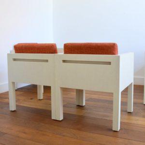ensemble cubique salon : fauteuil de repas 1980 vintage 11