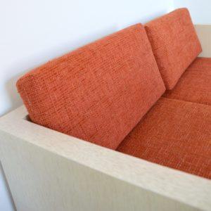 ensemble cubique salon : fauteuil de repas 1980 vintage 18