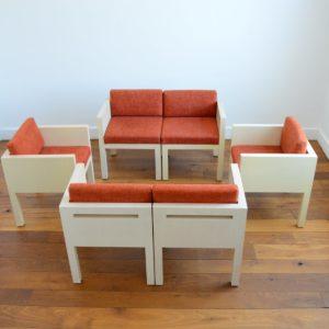 ensemble cubique salon : fauteuil de repas 1980 vintage 2