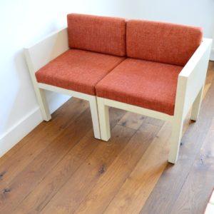 ensemble cubique salon : fauteuil de repas 1980 vintage 21