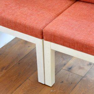 ensemble cubique salon : fauteuil de repas 1980 vintage 22