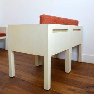 ensemble cubique salon : fauteuil de repas 1980 vintage 26