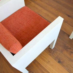 ensemble cubique salon : fauteuil de repas 1980 vintage 29