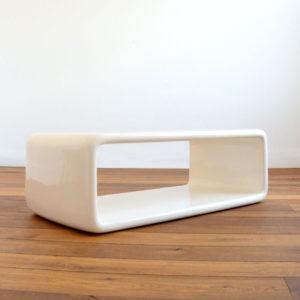 Coffee table : table basse fibre de verre space age design 1970 vintage 1
