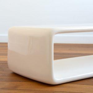Coffee table : table basse fibre de verre space age design 1970 vintage 12