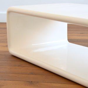 Coffee table : table basse fibre de verre space age design 1970 vintage 53