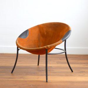 Fauteuil circle : Balloon chair Lusch & Co 1960 vintage 26