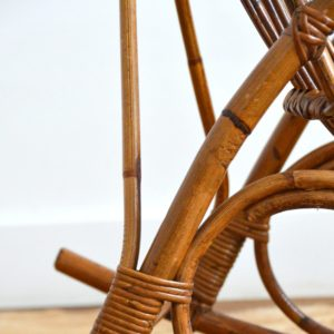 Rocking chair Rohe Noordwolde rotin : rotan 1950 vintage 23