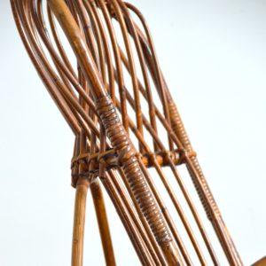 Rocking chair Rohe Noordwolde rotin : rotan 1950 vintage 26