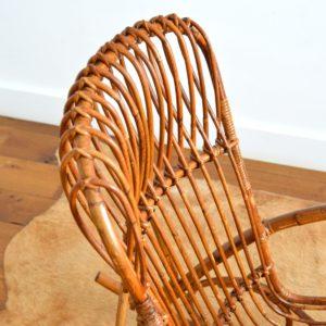 Rocking chair Rohe Noordwolde rotin : rotan 1950 vintage 28