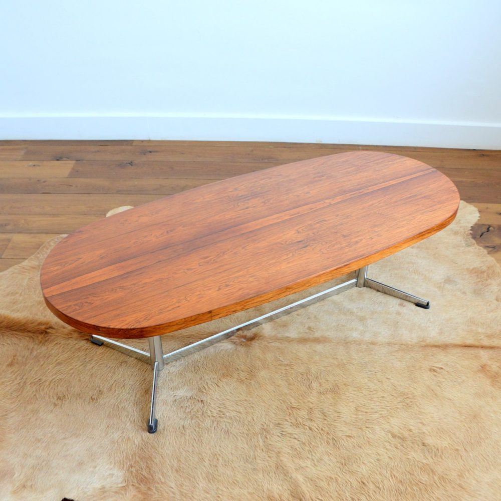Table basse design Danois palissandre 1960s