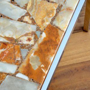 Table basse marbre et chrome années 60 : 70 vintage 10