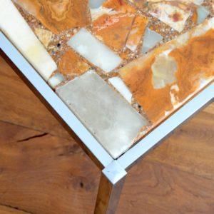 Table basse marbre et chrome années 60 : 70 vintage 11