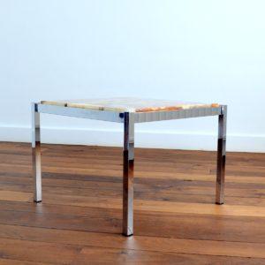 Table basse marbre et chrome années 60 : 70 vintage 17