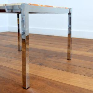 Table basse marbre et chrome années 60 : 70 vintage 27