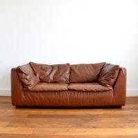 Canapé / Sofa en cuir Leolux / Pays-Bas 1970s