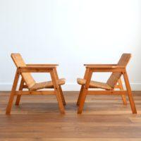 Paire de fauteuils scandinave 1970s