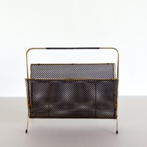 Porte revues Mategot métal perforé 1950 vintage 21