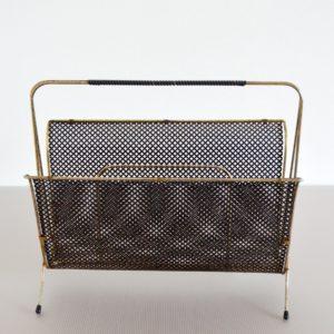 Porte revues Mategot métal perforé 1950 vintage 22