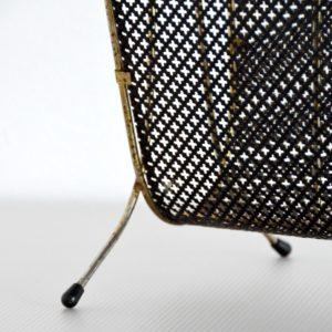 Porte revues Mategot métal perforé 1950 vintage 8