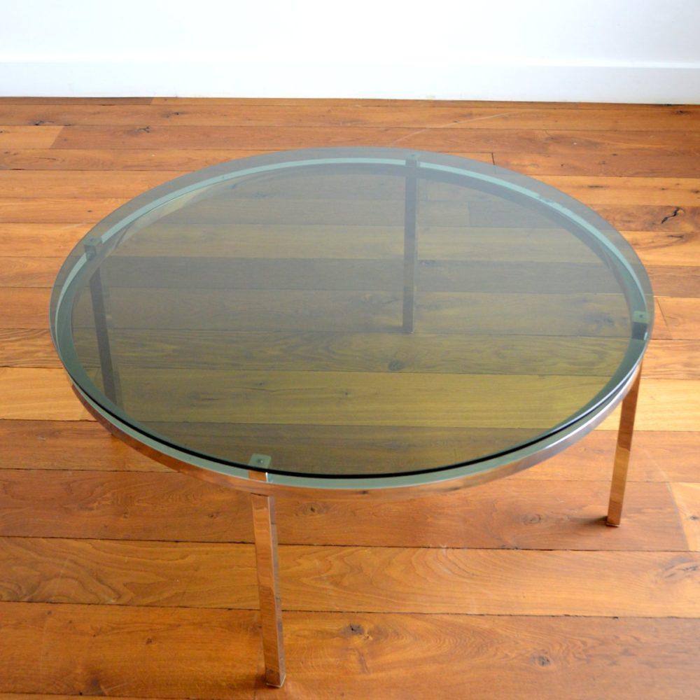 Table basse ronde design Italien 1970s