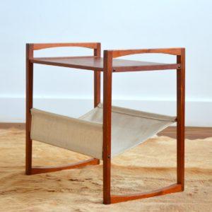Table porte revues Kai Kristiansen teak 1960 vintage 20